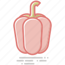 bell pepper, food, groceries, healthy eating, vegetable icon