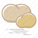 food, groceries, potatoes, vegetable icon