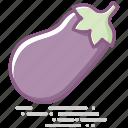 eggplant, food, groceries, healthy eating, vegetable icon