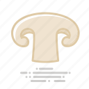 food, groceries, mushroom, slice, vegetable