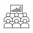 chart, graph, monitoring, people, training icon