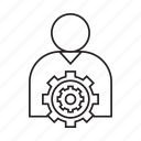 cog, gear, people, setting icon
