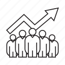 chart, graph, growth, people, performance, team, teamwork icon