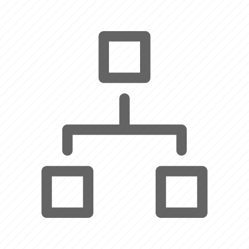 flowchart, hierarchy, organization icon