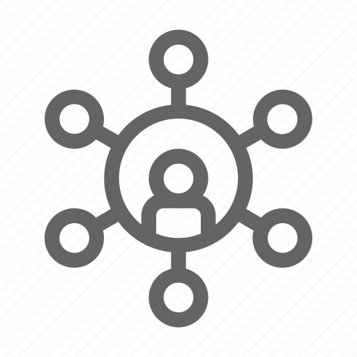 connection, network, organization icon