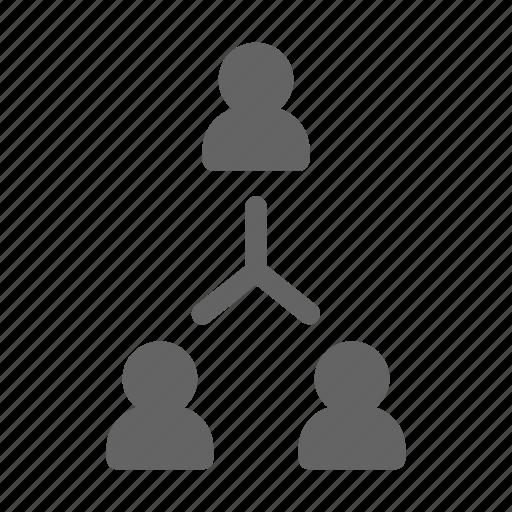 hierarchy, organization, team icon