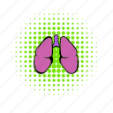 anatomy, comics, health, human, lung, medical, organ icon