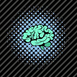 anatomy, brain, cerebellum, comics, health, human, science icon