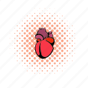 anatomy, aorta, body, comics, heart, medical, medicine icon