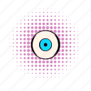 comics, eye, eyeball, eyelash, human, iris, vision icon