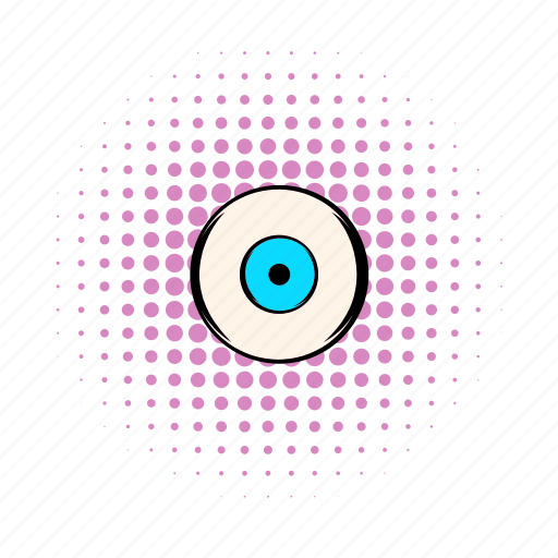 comics, eye, eyeball, eyelash, human, iris, vision icon