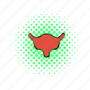 anatomy, bladder, comics, health, human, medical, science icon