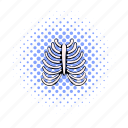 anatomy, body, comics, human, medical, rib, science icon