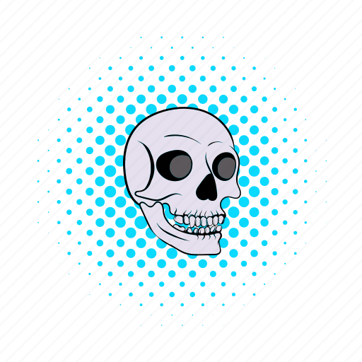 bone, comics, halloween, head, horror, human, skull icon