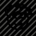 avatar, brain, front head, head, male head, profile icon