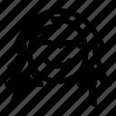 avatar, brain, female head, front head, head, head woman, profile icon