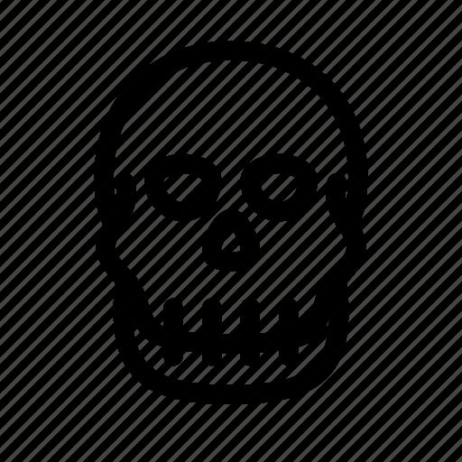 bone, death, orthopedics, skull, traumatology icon