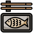 asian, fish, food, gastronomy, nutrition, oriental icon
