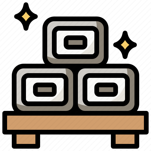 Asian, food, gastronomy, nutrition, oriental, tamagoyaki icon - Download on Iconfinder