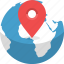 destination, earth, globe, gps, location, planet, world icon