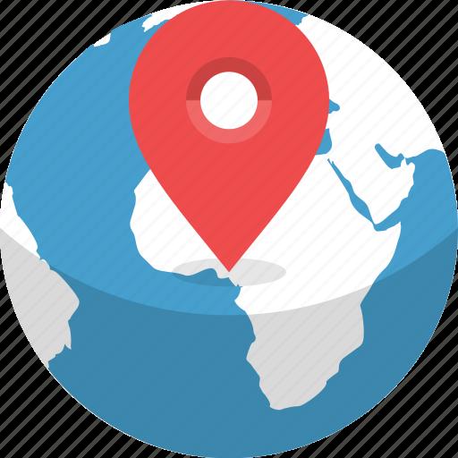 destination, earth, globe, gps, location, planet, world icon