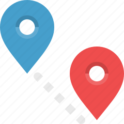 destination, distance, locate, navigation, orientation, route icon