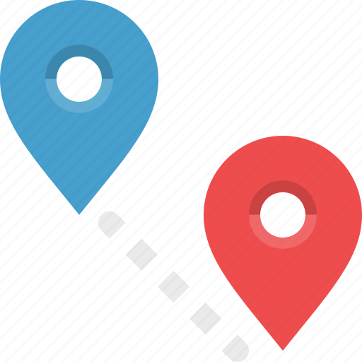 destination, distance, locate, navigation, orientation, route icon