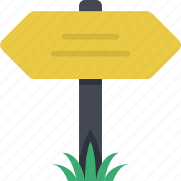 destination, direction, navigation, orientation, sign, signboard, signpost icon