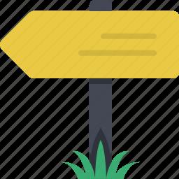 destination, direction, navigation, orientation, sign, signboard, signpost icon