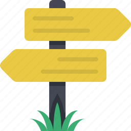 crossroad, location, navigation, orientation, sign, signboard, signpost icon