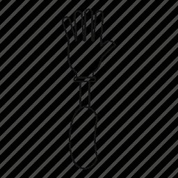 amputation, limb, line, outline, prosthesis hand, thin icon