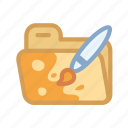 brush, design, files, folder, graphic, paint icon