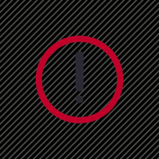 alarm, alert, attenion, attention, error, problem icon
