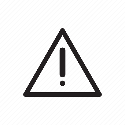 alert, attention, danger, error, message, problem, warning icon