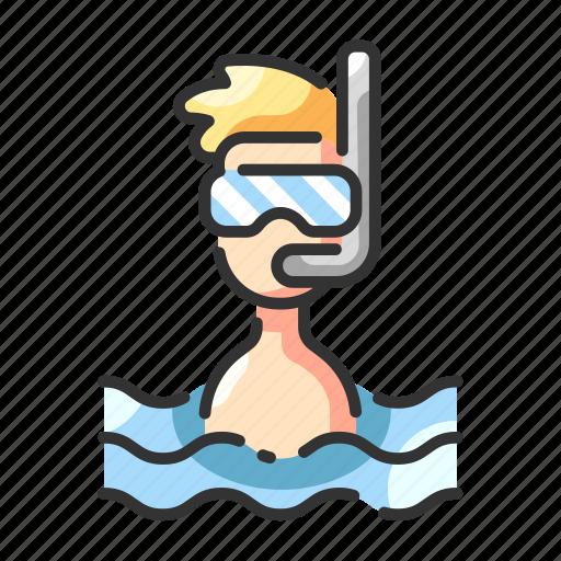 dive, diving, scuba, sea, travel, underwater, water icon