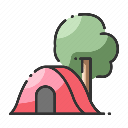 activity, adventure, outdoor, shelter, tent, tourism, vacation icon