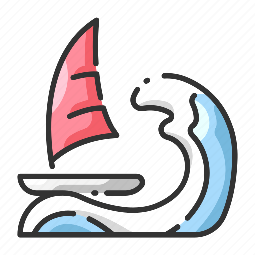 boat, extreme, sail, sport, wave, wind, windsurf icon