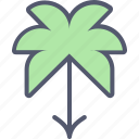 beach, jungle, nature, outdoors, palm tree, tourism, vacation icon