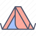 camp, camping, nature, outdoors, tent, tourism, travel icon