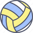 ball, exercise, fitness, game, outdoor, sport, volleyball icon