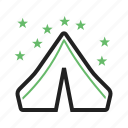 camp, camping, canvas, nature, outdoors, small, tent icon