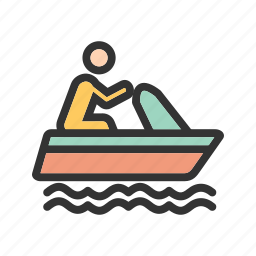 boat, fishing, sail, sailing, sea, ship, travel icon