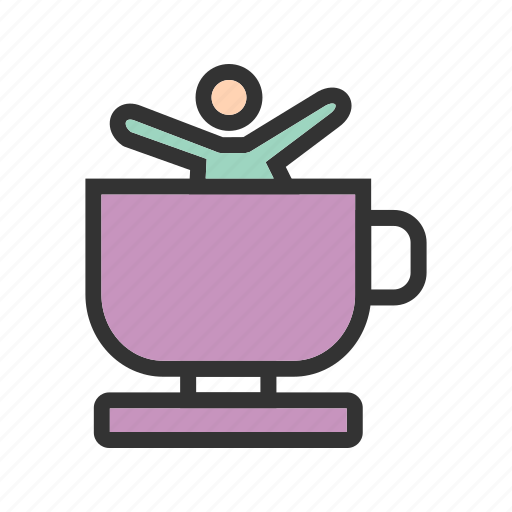 amusement, cup, entertainment, fun, park, ride, teacup icon