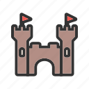 castle, fairytale, kingdom, princess, stone, tower icon