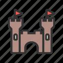 castle, fairytale, kingdom, princess, stone, tower icon