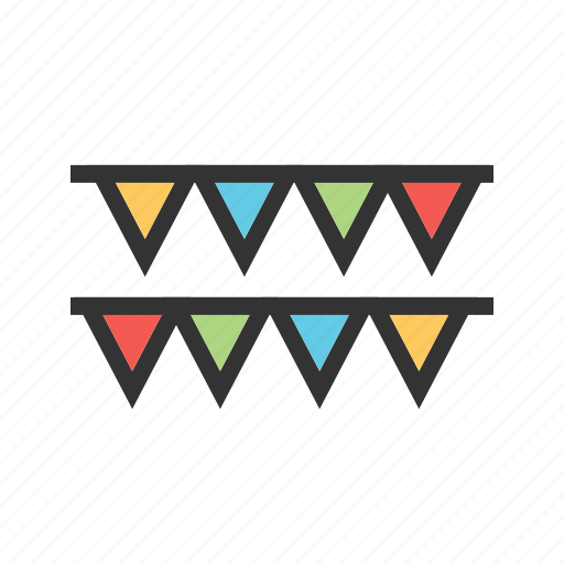 anniversary, banner, celebration, flag, party, pattern, summer icon