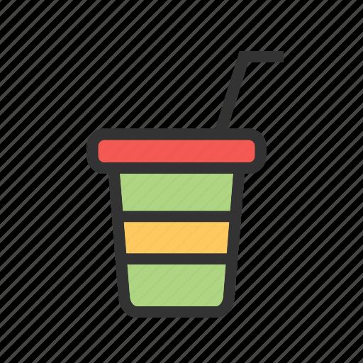cup, drink, fruit, juice, orange, plastic icon