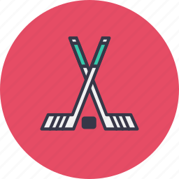 ball, game, hockey, ice, sport, stick icon