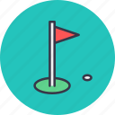 aim, flag, game, golf, hole, sport, sports icon