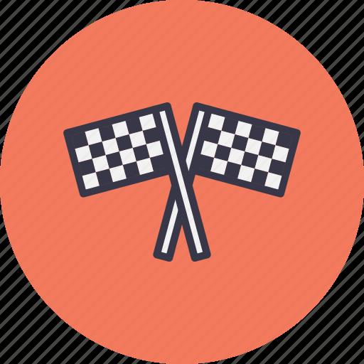 bike, car, flag, race, racing, sports, start icon